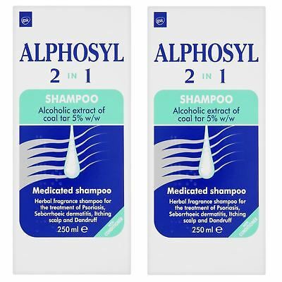 2 Packs - Alphosyl 2-in-1 Medicated Shampoo 250ml