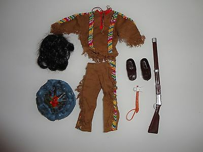 Vintage Action Team / Man GI Joe Hasbro Schildkröt - Indianer Kleidung