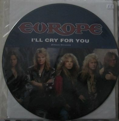 "Europe  12""  Picture Disc  I'll Cry For You"