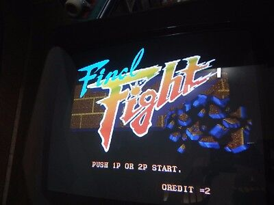 Final Fight capcom bootleg  pcb arcade  graphic glitches but working