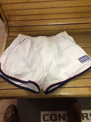 Vintage 80s Everlast Gym Shorts Satin Size Large