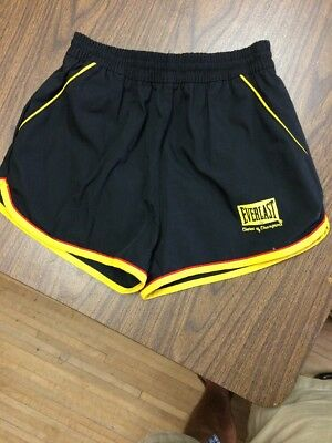 Vintage 70s Everlast Gym Short Black/gold Boxing
