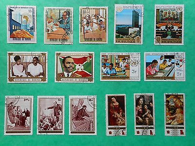 Burundi 1962-1969 (Lot of 25 Stamps)