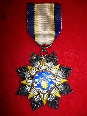 China, Republic, Order of Clouds and Banner, Ninth Class Breast Badge, Medal