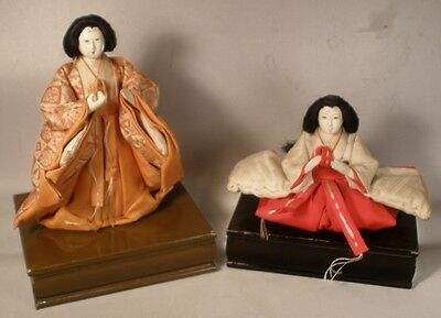 Decorative Japanese Dolls on Wood Stands