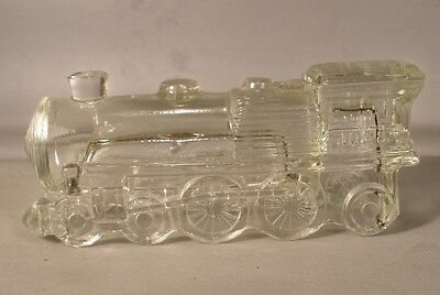 Locomotive Glass Candy Container 1028