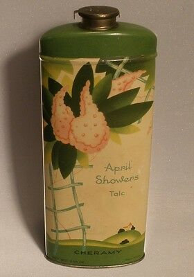 Cheramy April Showers Talc Tin