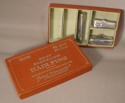 Box of Packaged Vintage Hair Pins from England