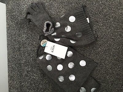 M&S Kids Hat Scarf And Gloves Set BNWT Age 3-6 Years