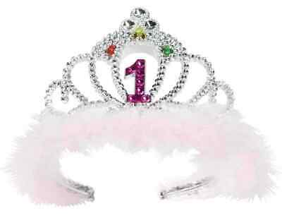 1st Birthday 1 Flashing Tiara Pink Crown Princess Party Favor Costume Accessory