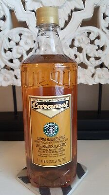 New Starbucks CARAMEL  Syrup ~ 1 L/ 33.8 Fl Oz Best By 9/1/17