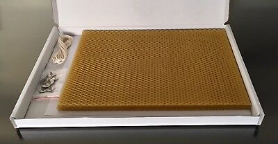 5 Large 100% Natural Beeswax Sheets With Accessories + Free Gift