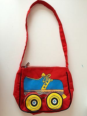 VGC unusual Retro 80s Rollerskate Bag, Made in Taiwan