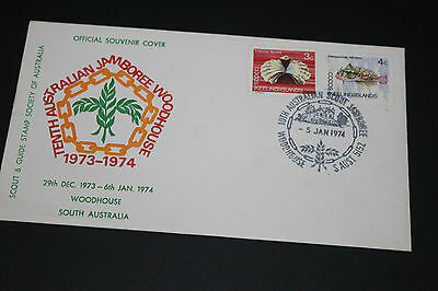 Aust 1974 Woodhouse Sa 10Th Aust Jamboree Souvenir First Day Cover