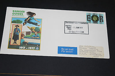 Great Britian  1977 Ranger Guides Diamond Jubil Souvenir First Day Cover Ex Cond