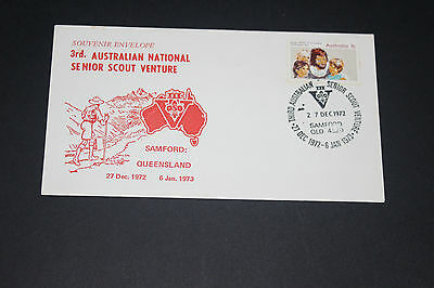 Aust 1972 Samford Qld 3Rd Nat Senior Scout Venture Souvenir First Day Cover