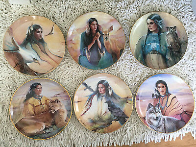 Franklin Mint 'x6 PRINCESS PLATES' Limited Edition Collector Plates