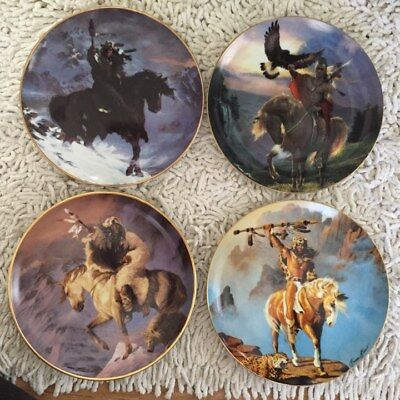 Franklin Mint 'x4 PLATES' Limited Edition Collector Plates