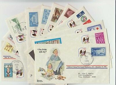 Qty 12 - 1979 Norman Rockwell - First Day Covers - Mixed Lot - No Dupes - #2