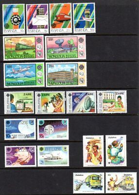 WORLD COMMUNICATIONS YEAR OMNIBUS ISSUES 17 different sets MNH