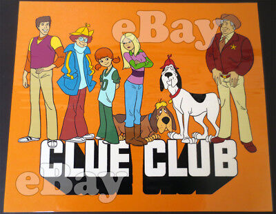 Rare! CLUE CLUB ANIMATION PUBLICITY CEL Hand Painted HANNA BARBERA Studios