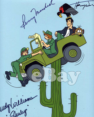 Rare! LAVERNE SHIRLEY & FONZ ANIMATION CEL Hand Painted HANNA BARBERA Signed X 3