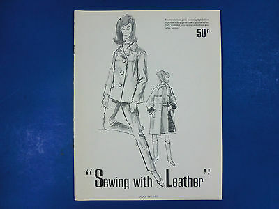 Sewing Crafts Sewing With Leather Tandy Leather Company 1959 Softcover