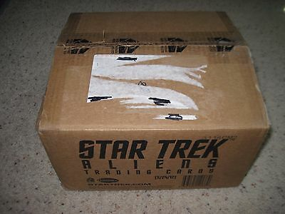 STAR TREK ALIENS EMPTY Display 12 Box Collector CASE No Cards Rittenhouse #A