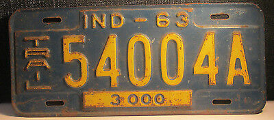 1963 INDIANA TRAILER License Plate 54004A