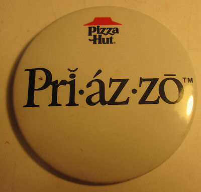 Vintage 1985 Pizza Hut Priazzo Button