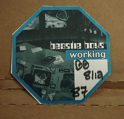 "1998 BEASTIE BOYS Backstage Pass ""HELLO NASTY"" sticker/badge RUN/DMC tour/crew"