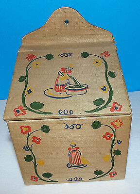 Vintage 1940 Old Spice Bath Salts Box Early American Salt Box Designs