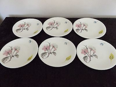 Vintage set of 6 Grindley small plates  - 16cm