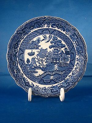 "Early Blue Willow 5 7/8"" Saucer With Scalloped Edge"