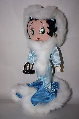 Betty Boop Soft Sculpture Doll in Fancy Blue Dress Steppin Out Plush Stuffed