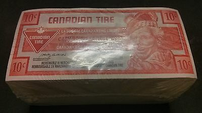 """UNC Unopened"" 2004 One Brick 500 Canadian Tire Money 10 Cents ""0259799500"""