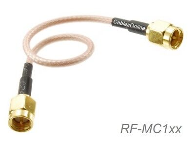 SMA Male to SMA Male Gold plated RG316 Coax Low Loss Jumper RF Cable