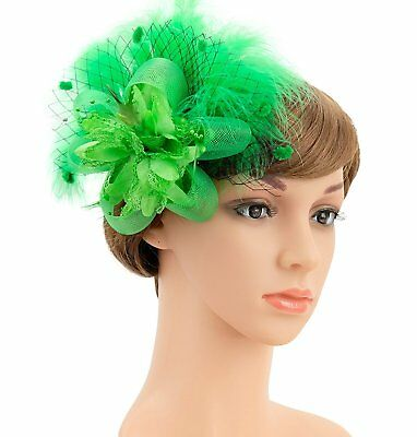 Tea Party Hair Clip Feather Derby Fascinator Hat for Women and Girls Bridal 20s