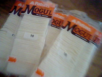 PATONS-MOGUL PRE CUT RUG YARN 1 PACK (240 pieces in each )CREAM