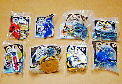 8 Power Rangers McDonalds Small Plastic Toys All NEW in sealed bags