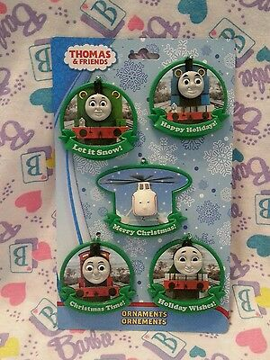 Thomas the Tank Engine & Friends Pack of 5 Flat Holiday Christmas Tree Ornaments