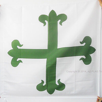 ORDER OF ST. BENEDICT OF AVIS FLAG 3' x 3' for a pole - IMPERIAL SAINT BENEDICT