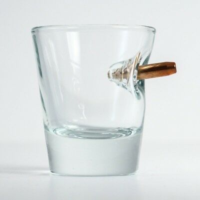 The Original BenShot Shot Glass with Real Bullet Bulletproof MADE in the USA