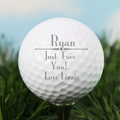 Personalised Golf Ball Keepsake Gift Fathers Day Lover Him Boyfriend AP071288