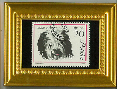 Sheepdog - A Collectible Glass Framed Postage Masterpiece!