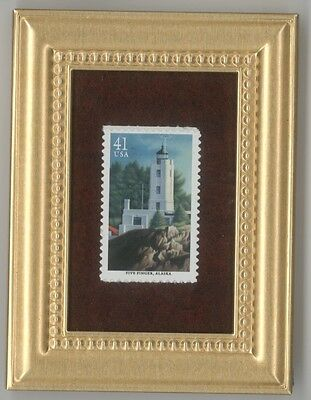 Five Finger Alaska Lighthouse - A Framed Collectible Postage Masterpiece