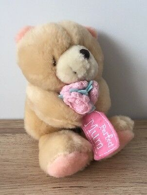 "FOREVER FRIENDS - PLUSH 6"" Soft Toy - TEDDY BEAR Holding FLOWERS - PERFECT MUM"