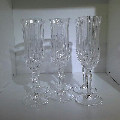 Lead Crystal Rare Discontinued Roma Design Royal Doulton Champagne Flutes