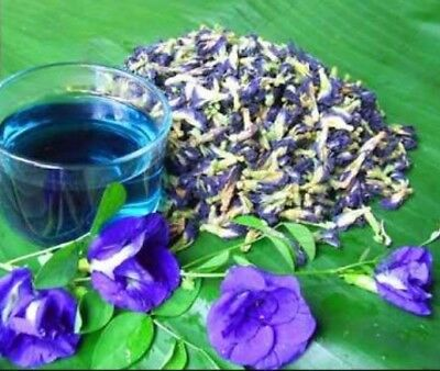 Organic pure natural dried butterfly pea tea 100% blue flowers clitoria ternatea