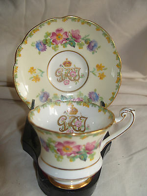 Paragon China George VI Coronation Floral Cup & Saucer c1937 (6 Available)